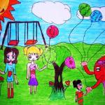 صور رسومات عيد الفطر المبارك 2019 للتلوين رسم اطفال عن عيد الفطر المبارك