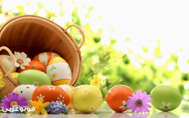 صور بيض ملون شم النسيم 2021