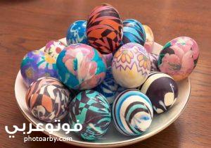 صور بيض ملون شم النسيم